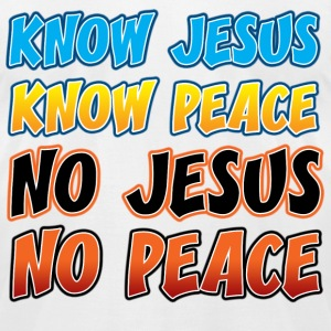 Know Jesus, Know Peace T-Shirts - Men's T-Shirt by American Apparel