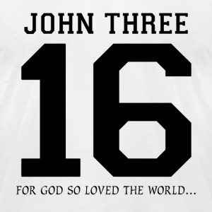 John Three 16, For God So Loved The World T-Shirts - Men's T-Shirt by American Apparel