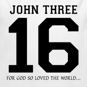 John Three 16, For God So Loved The World Baby & Toddler Shirts - Long Sleeve Baby Bodysuit