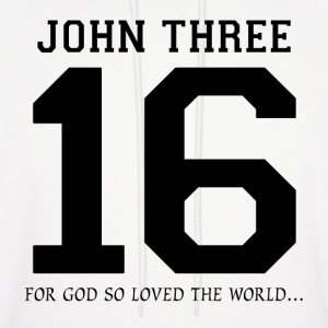 John Three 16, For God So Loved The World Hoodies - Men's Hoodie