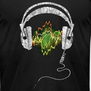 Headphone Frequency T-Shirts - Men's T-Shirt by American Apparel