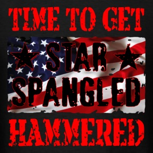 Time to get star spangled hammered - Men's T-Shirt