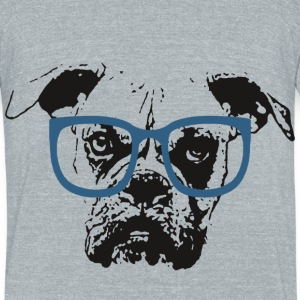 Dog In Glasses - Unisex Tri-Blend T-Shirt by American Apparel
