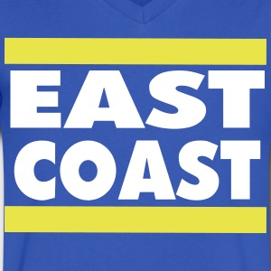 EAST COAST - Men's V-Neck T-Shirt by Canvas