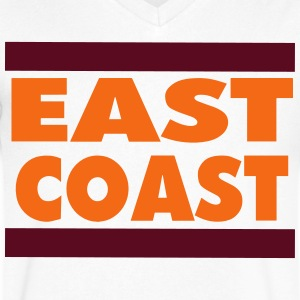 EAST COAST T-Shirts - Men's V-Neck T-Shirt by Canvas