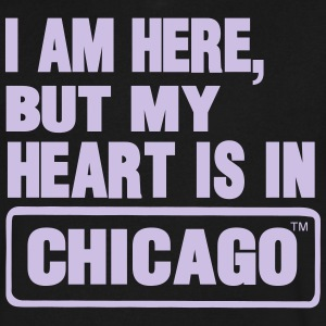 I AM HERE BUT MY HEART IS IN CHICAGO T-Shirts - Men's V-Neck T-Shirt by Canvas