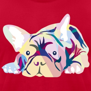 Pink Frenchie T-Shirts - Men's T-Shirt by American Apparel