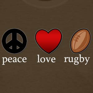 Peace Love Rugby Dark T-Shirt - Women's T-Shirt