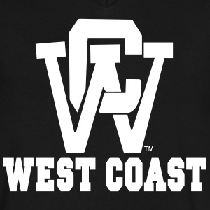 WEST COAST T-Shirts - Men's V-Neck T-Shirt by Canvas