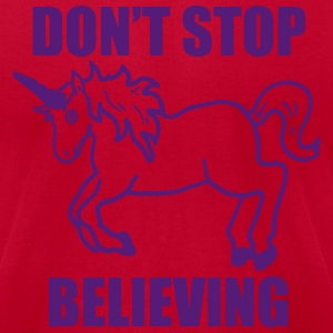 Don't Stop Believin T-Shirts - Men's T-Shirt by American Apparel