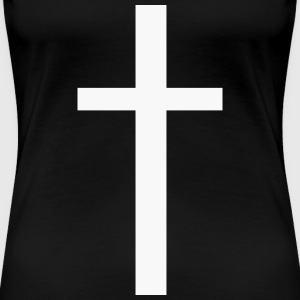Womens White Cross Tee - Women's Premium T-Shirt