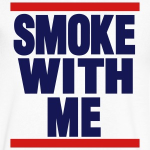 SMOKE WITH ME T-Shirts - Men's V-Neck T-Shirt by Canvas