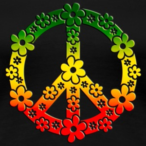 Reggae Peace Symbol Love Freedom Flower Summer Women's T-Shirts - Women's Premium T-Shirt