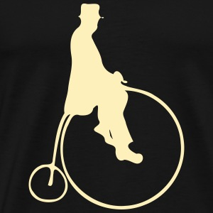 Penny Farthing With Rider T-Shirts - Men's Premium T-Shirt