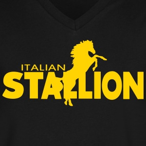 ITALIAN STALLION T-Shirts - Men's V-Neck T-Shirt by Canvas