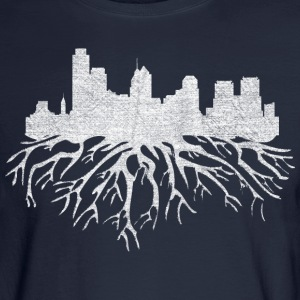 Philadelphia Skyline Roots Long Sleeve Shirts - Men's Long Sleeve T-Shirt