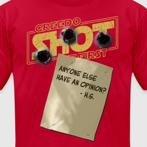 Greedo Shot First, huh? - Men's T-Shirt by American Apparel