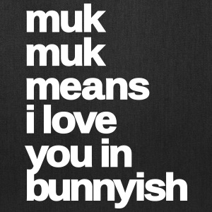 muk muk means i love you rabbit bunny hare cony  Bags & backpacks - Tote Bag