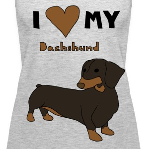 i heart my dachshund Tanks - Women's Premium Tank Top