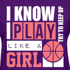 Basketball Girl Women's T-Shirts