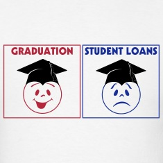 Graduation and Loans 3 Color Vector T-Shirts