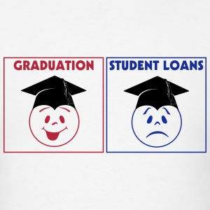 Graduation and Loans 3 Color Vector T-Shirts - Men's T-Shirt
