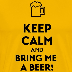 Keep calm and bring me a beer T-Shirts - Men's Premium T-Shirt