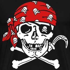 Pirate Skull ( for black shirts) T-Shirts - Men's Premium T-Shirt
