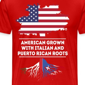 American Italian and Puerto Rican roots T Shirt T-Shirts - Men's Premium T-Shirt