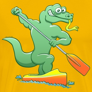 Water Monitor Competing in a Canoe Sprint Event T-Shirts - Men's Premium T-Shirt