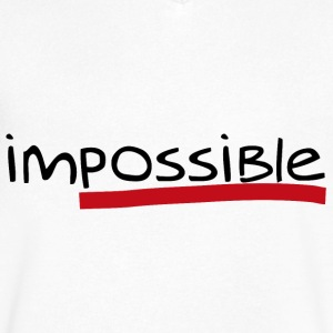 Impossible | Possible - Men's V-Neck T-Shirt by Canvas