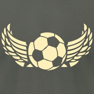 wing soccer ball 1007 T-Shirts - Men's T-Shirt by American Apparel