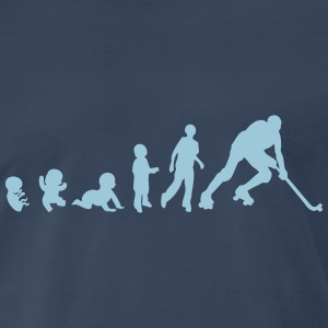 evolution rink hockey player 1 adult T-Shirts - Men's Premium T-Shirt