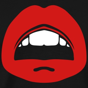 kisses lip mouth tooth 1006 T-Shirts - Men's Premium T-Shirt