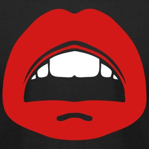 kisses lip mouth tooth 1006 T-Shirts - Men's T-Shirt by American Apparel