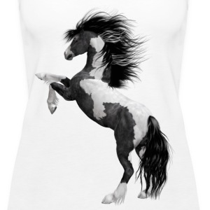 black and white horse - Women's Premium Tank Top