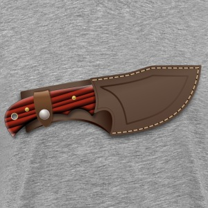 Hunter knife in a sheath - Men's Premium T-Shirt