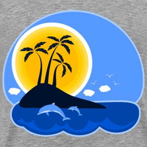 Tropical island - Men's Premium T-Shirt
