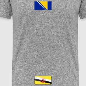 Flag of Brunei (bevelled) - Men's Premium T-Shirt