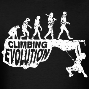 Climbing Evolution - Men's T-Shirt