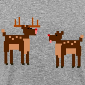 Strange deer - Men's Premium T-Shirt