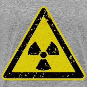 Grungy radiation warning sign - Men's Premium T-Shirt
