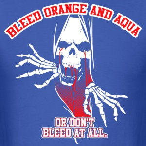 Bleed Orange & Aqua - Men's T-Shirt