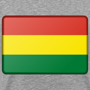 Flag of Bolivia (bevelled) - Men's Premium T-Shirt