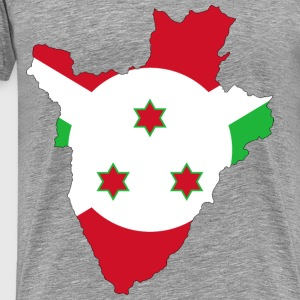 Burundi Flag Map With Stroke - Men's Premium T-Shirt