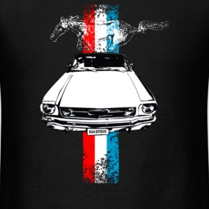 auto mustang stripes distressed - Men's T-Shirt