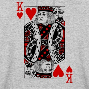 king of hearts Valentines Day - Men's Hoodie