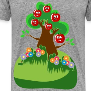 Anthropomorphic Happy Apples Tree - Men's Premium T-Shirt