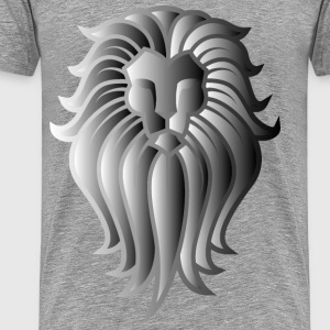 Chromatic Lion Face Tattoo 8 - Men's Premium T-Shirt