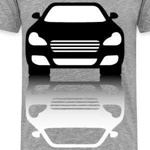 Black Car Front View With Shadow - Men's Premium T-Shirt